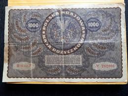 POLOGNE 1000 MAREK 1919 III SERIE F - Poland