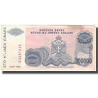 Billet, Croatie, 100,000 Dinara, 1993, KM:R22a, TB+ - Croatia