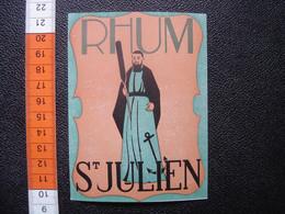 Ancienne Etiquette RHUM SAINT JULIEN St - Rhum