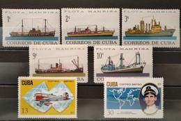 CUBA - 1964/1971 - N° 721/725 * + PA 251/252 ** (voir Scan) - Collezioni & Lotti