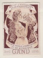 Gent 1898Exposition  Société Royale D'Agriculture Et De Botanique Vignette - Commemorative Labels
