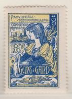 Gent 1899 Provinciale Tentoonstelling  Vignette - Erinnophilie - Reklamemarken
