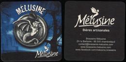 France Sous Bock Beermat Coaster Bière Beer Mélusine SU - Portavasos