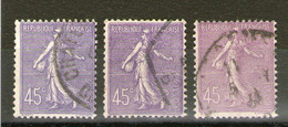 3 N°197°_Bleu_violet_lilas - 1903-60 Semeuse Lignée