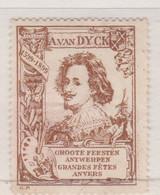 Antwerpen 1899 300-ste Verjaardag Van VAN   DYCK Groote Feesten   Vignette - Commemorative Labels