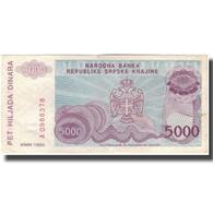 Billet, Croatie, 5000 Dinara, 1993, KM:R20a, TB+ - Croatia