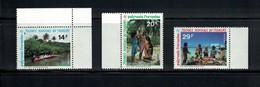 N° 480 A/B/C SERIE COMPLETE, RARE, POLYNESIE 1995. NEUFS** MNH. - Ungebraucht