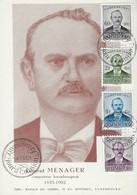 Luxembourg - Luxemburg - Carte Maximum  1951  Laurent Menager  Compositeur Luxembourgeois ( 1835-1902 ) - Maximumkarten