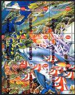 POISSONS / FISHES,  De KAMTCHATKA 1998, 9 Valeurs Formant Une Scène, Neufs / Mint. R1015 - Fantasy Labels