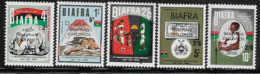 1968 Nigeria BIAFRA 30-34** Surchargés, Enfants, Billet De Banque - Nigeria (1961-...)