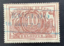 TR7 - Gestempeld RECHTHOEK EECLOO 16 JANV 7-S 1891 - Afgestempeld