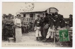CPA Près De Gérardmer La Bresse 88 Vosges Frontière Douane Soldats Français Et Allemands Devant Le Bazar Kissy Bonbons - Gerardmer