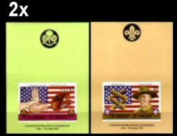 BULK: 2 X ST.VINCENT 1986 Scouting US Flag Art Mrs And Mr Baden Powell IMPERF.sheetlets:2 - St.Vincent (1979-...)