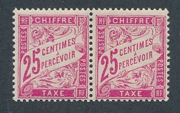 EA-158: FRANCE: Lot Avec Taxes  N°32** (paire) - 1859-1955.. Ungebraucht