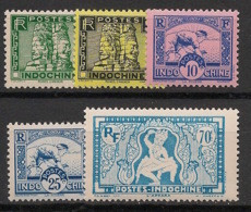 Indochine - 1941 - N°Yv. 214 à 218 - Série Complète - Neuf Luxe ** / MNH / Postfrisch - Nuovi