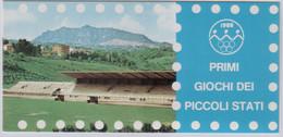 """Idee Europee - 1985 San Marino """"Giochi Dei Piccoli Stati"""" S. Cpl 5v + 1 Libretto MNH** (rif.1156/60 + L1 Cat. Unificato) - Ideas Europeas"""