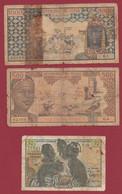 Autres-Afrique 3 Billets Usagés (RARE) - Autres - Afrique