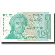 Billet, Croatie, 100 Dinara, 1991, 1991-10-08, KM:20a, SPL+ - Croatia