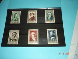 FRANCE ANNEE 1951 NEUFS  N° YVERT 891 A 896 SERIE COMPLETE 6 VALEURS    CELEBRITES DU XIXeme SIECLE (1) - Collezioni (senza Album)