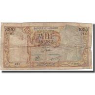 Billet, Algeria, 1000 Francs, 1956, 1956-12-19, KM:107b, B - Algeria