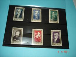 FRANCE ANNEE 1952 NEUFS  N° YVERT 930 A 935 SERIE COMPLETE 6 VALEURS    CELEBRITES DU XIXeme SIECLE (2) - Collezioni (senza Album)