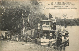 CONGO FRANCAIS MISSION DE BRAZZAVILLE LE LEON XIII ET LE DIANA DANS LE PORT DE SAINTE RADEGONDE - French Congo - Other