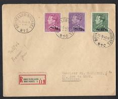 Envoi Recommandé Bruxelles - Premier Jour 20/05/1946. - Covers & Documents