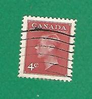 1950 N° 234 GEORGE VI  4 C.  OBLITÉRÉ - Usados