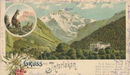 Interlaken - Gruss Aus ... Litho + 1904 - BE Berne