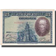 Billet, Espagne, 25 Pesetas, 1928, 1928-08-15, KM:74b, TTB - Other