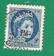 1954 N° 271 ELIZABETH II  5 C.  OBLITÉRÉ - Usados