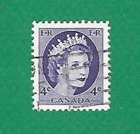 1954 N° 270 ELIZABETH II  4 C.  OBLITÉRÉ - Usados