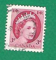 1954 N° 269 ELIZABETH II  3 C.  OBLITÉRÉ - Usados