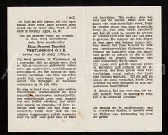 Doodsprentje / Bidprentje / Avis De Décès / Mortuaire / Dom Arnoud Theofiel Vervloessem / Novice / Abdij Affligem / 1964 - Devotion Images