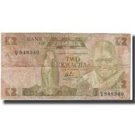 Billet, Zambie, 2 Kwacha, KM:24b, AB - Zambia
