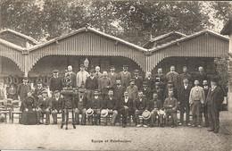 TOULOUSE FETE DE FAMILLE DE FIRMIN PONS A L ADMINISTRATION DES TRAMWAYS  EN 1910  EQUIPE ET PALEFRENIERS - Toulouse