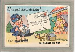 CPA - (74) Les GORGES-du-FIER - Carte à Système Avec Fenêtre à Volet Contenant Un Accordéon Complet De 10 Images - 1950 - Otros Municipios