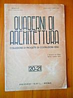 Quaderni Di Architettura, Collezione Di Progetti Di Costruzioni Edili E Cimiteri  - Roma 1946 - Other