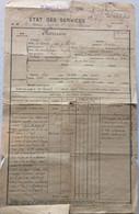 FRANCE ETAT DES SERVICES HERISSON ROBERT MEDECIN MAJOR ET AUTRES DOCUMENTS DE REFORME - Documenten