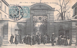 PARIS  XV° --  Paris-Hopital Des Enfants Malades   Rue De Sevres --  Recto Verso - Arrondissement: 15