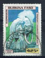 Burkina Faso, 425f, Eléphant, 2000, Obl, TB - Burkina Faso (1984-...)