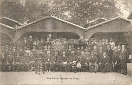TOULOUSE FETE DE FAMILLE DE FIRMIN PONS A L ADMINISTRATION DES TRAMWAYS  EN 1910  LOT  DE 2 CAR TES - Toulouse