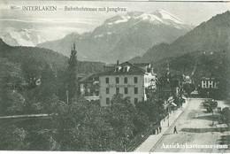 Interlaken - Bahnhofstrasse + Ca. 1910 - BE Berne