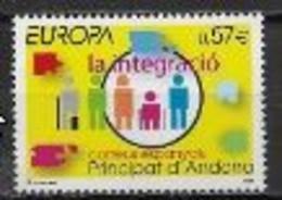 Andorre Espagnol 2006 N° 323 Neufs Europa L'intégration - 2006