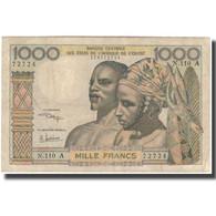 Billet, West African States, 1000 Francs, KM:103Al, TB+ - West African States