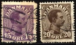 Denmark 1913 Mi 69-70 King Christian X - Unclassified