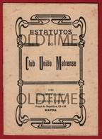 PORTUGAL - MAFRA - CLUB UNIAO MAFRENSE - ESTATUTOS - 1928 - Other