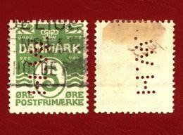 Denmark 1930 Mi 182 Figure 'wave'- Type, PERFIN ''HW'' (3) - Unclassified