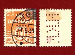 Denmark 1933 199.II Figure 'wave'- Type, PERFIN ''HKF'' - Unclassified