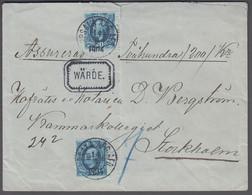 1904. Oscar II. 2 Ex 20 öre On Money Letter (200 Kr.) To Kammarkollegiet, Stockholm F... (Michel 45) - JF419186 - Covers & Documents